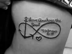 Love anchors the soul tattoo