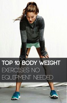 10 Body Weight Exercises No Equipment Needed | Tricksly