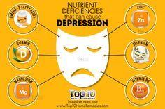 nutrient deficiencies that cause depression magnesium infographics Magnesium Benefits, Magnesium Oil, Depression Remedies, Depression Treatment, Vitamin B Supplements, Natural Antidepressant, Top 10 Home Remedies, Natural Remedies, Mental Health Problems
