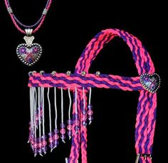 Paracord Horse Bridle | Photo: Add a custom necklace to go with your custom hand braided tack ...