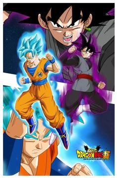 dragon ball super poster goku vs black 2 by naironkr on DeviantArt