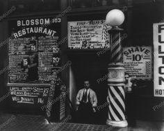Barber Shop Shave 10 cents 1930's Vintage 8x10 Reprint Of Old Photo