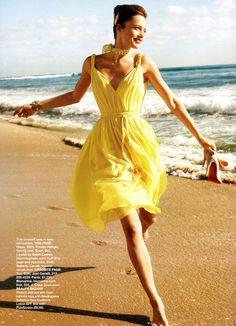 Tommy Hilfiger, yellow summer dress.