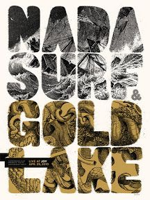 Nada Surf + Gold Lake concert poster, by Billy Band Posters, Cool Posters, Music Posters, Surf Posters, Typographic Poster, Typography Art, Screen Print Poster, Poster Prints, Gig Poster