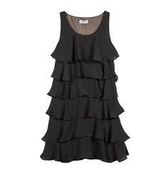 Sleeveless mini frill dress