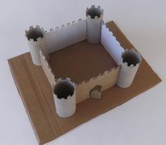 paper castle, castle from toilet paper rolls, how to make a castle, castle diy