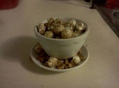 """Homemade Fiddle Faddle (Toffee Popcorn).    Going to try this with """"light"""" ingredients."""