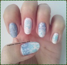 Unghiutze colorate-Happy nails: Autumn and Winter Holidays Challenge-6. First Snow