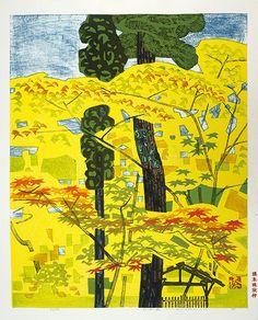 Pine, Cedar and Maple by Hashimoto Okiie / 松と杉と楓 橋本興家