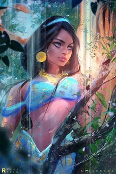 Jasmine : Youtube! by rossdraws.deviant... on @DeviantArt - More at pinterest.com/... #princess #disney #aladdin