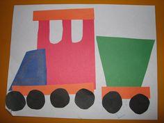 Preschool Activities: Geometric Shapes Trainmama smiles