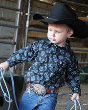 1e3ef3f52 Cowboy Hardware Boys' Peacock Floral Western Shirt - Infant and Toddler -  www.fortwestern