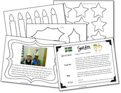 Christmas in Sweden with a Fun Freebie! as seen on Second Grade Staff    www.secondgradesquad.com