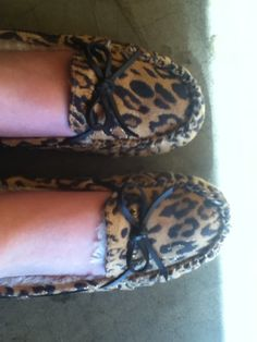 Leopard Slippers!