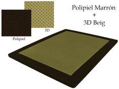 Base Tapizada Polipiel Marrón + 3D Beig
