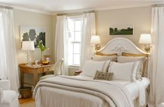 A Serene Guest Room Sanctuary from Pottery Barn. I love it!