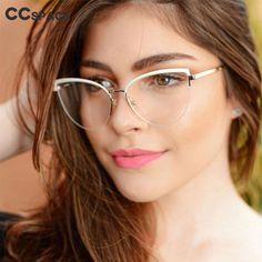 Womens Prescription Glasses, Womens Glasses, Fashion Eye Glasses, Cat Eye Glasses, Eyewear Trends, Women's Eyewear, Mens Glasses Frames, Rimless Glasses, Computer Glasses