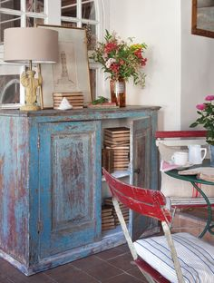 Re claimed barn wood top with vintage legs only at - Pintar una casa ...