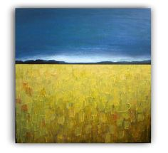 Serenity of Wheat Field  Original acrylic painting  by VESNAsART, $220.00