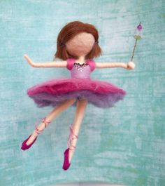 Needle felted ballerina decoration *MADE TO ORDER* Sugar Plum Fairy - The Nutcracker