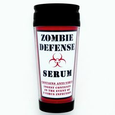 Funny Resident Evil Zombie Apocolypse Travel Mug. $19.95, via Etsy.