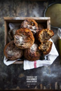 Crunchy Top Coconut Banana Muffins - Cook Republic