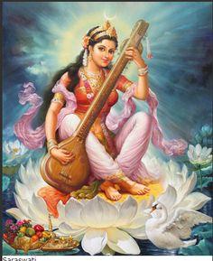 Happy Basant Panchami 2020 Wishes, Images,Status,Shayari,quotes Saraswati Goddess, Indian Goddess, Goddess Art, Goddess Lakshmi, Shiva Shakti, Saraswati Mata, Durga Maa, Saraswati Painting, Kali Hindu