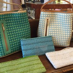 Woven Samoe Style handbags & hand-beaded Guatemalan clutches.