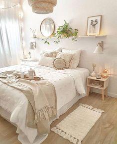 Room Design Bedroom, Room Ideas Bedroom, Home Decor Bedroom, Girls Bedroom, Bedroom Designs, Bedroom Inspo, Boho Teen Bedroom, White Bedroom Decor, Bohemian Bedroom Decor