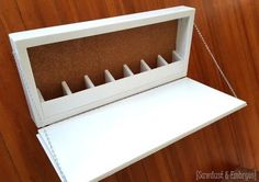 Fold Down Storage Murphy Desk | so many options... entry way, kids rooms, my office