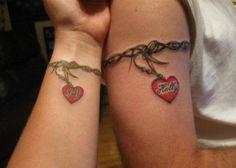 Companion Matching Tattoos - 70  Lovely Matching Tattoos