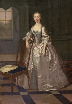 Arthur Devis: A Lady in a Drawing Room. ca. 1740, 1741.