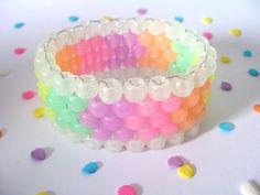 Glow Kandi Cuff Pastel Rainbow Rave