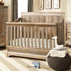 Bertini Pembrooke 4-in-1 Convertible Crib, Natural Rustic