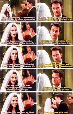 33 Super Ideas for quotes love relationship funny friends Monica and Chandler have always been my favorite couple even before they officially got together I always hoped they would. I was sooo happy when they finally did! Serie Friends, Friends Episodes, Friends Moments, Friends Tv Show, Friends Forever, Best Friends, Funny Friends, Friends Series Quotes, Chandler Friends