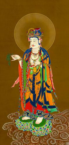 I uploaded new artwork to fineartamerica.com! - 'Kuan Yin Bodhisattva 1' - http://fineartamerica.com/featured/kuan-yin-bodhisattva-1-lanjee-chee.html via @fineartamerica