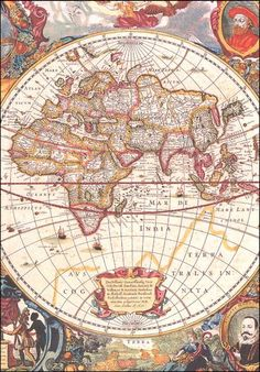 Antique Maps of the World Map of the World Abraham Ortelius 1570 Dimensions: x Size: 12 MB This digital sheet contains a beautiful high resolutio Old World Maps, Old Maps, Vintage Maps, Antique Maps, Map Globe, Historical Maps, Map Art, Art Plastique, Decoupage