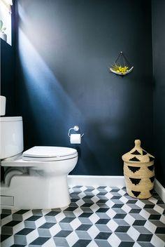 A bachelor's first home - desire to inspire - desiretoinspire.net - Shialice - tumbling block tile