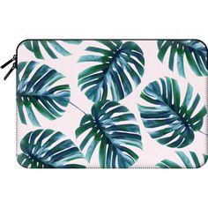 Monstera Pattern #casetify Macbook Case - Macbook Sleeve ($60) ❤ liked on…