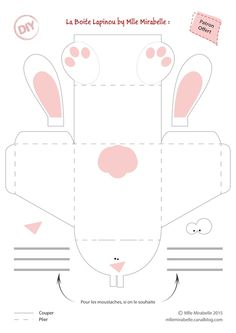 DIY Table Decoration: Your Easter Bunny Box [Gabarit Offert] – Miss Mira … Easter Games, Easter Activities, Children Activities, Bunny Crafts, Easter Crafts, Diy And Crafts, Crafts For Kids, Diy Ostern, Easter Printables