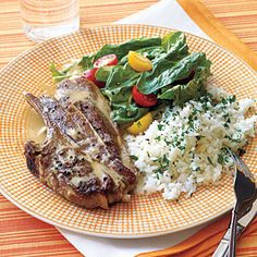 Lamb Chops with Tahini Sauce Recipe | MyRecipes.com