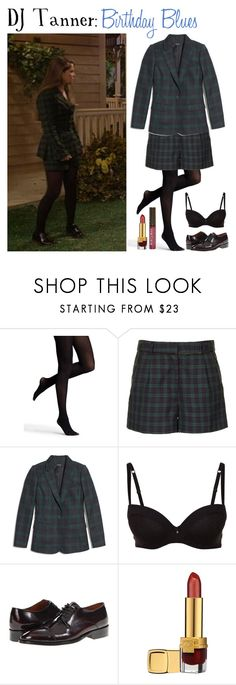 """""""DJ Tanner: Birthday Blues"""" by jleigh329 ❤ liked on Polyvore featuring Express, Topshop, Madewell, Daniel Hechter, Fitzwell, Estée Lauder and Burt's Bees"""