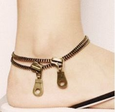 Want this so bad!! Zipper Fashion Statement Anklet (Ankle Bracelet)   LilyFair Jewelry