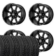 """16/"""" Moto Metal MO951 Black Machined Wheel 16x8 6x5.5 0mm Chevy GMC Yukon 6 Lug"""