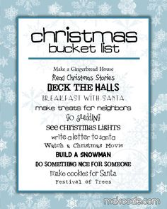 Christmas Bucket List...FOR THIS YEAR!!!-There are so many things DJ has never done that its time to experience the fun of the holidays even when you're an adult...
