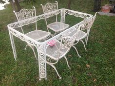 shabby chic woodard wrought iron table and 2 chairs vintage andalusian shabby chic style at retro daisy girl shabby chic
