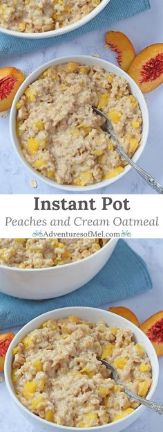 Instant Pot Peaches and Cream Oatmeal an easy weekday breakfast idea. Throw ing Instant Pot Peaches and Cream Oatmeal an easy weekday breakfast idea. Throw ingredients together pop on the lid and it practically makes itself. Source by mellockcuff Instant Pot Oatmeal Recipe, Best Instant Pot Recipe, Oatmeal Recipes, Instant Pot Pressure Cooker, Pressure Cooker Recipes, Pressure Cooking, Slow Cooker, Creme, Peach Oatmeal