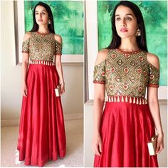 @shraddhakapoor stuns in @arpitamehtaofficial  #bollywood #style #fashion #beauty #bollywoodstyle #bollywoodfashion #indianfashion #celebstyle #indianstyle #shraddhakapoor #arpitamehta