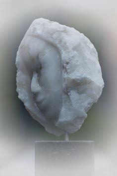 Hoofd van een Albast knol. Gemaakt door Marjen Blanken.