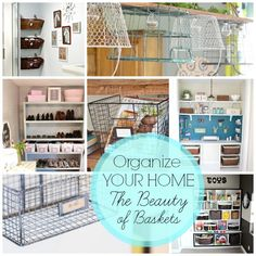 DIY:: tons of ways to organize with baskets by Blissfully Domestic Household Organization, Storage Organization, Storage Ideas, Organizing Your Home, Organizing Tips, Organising, Craft Storage, Getting Organized, Storage Solutions